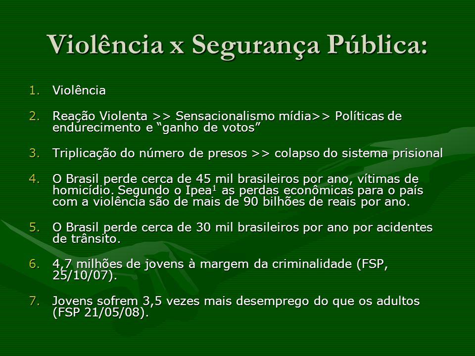 Violência x Segurança Pública: