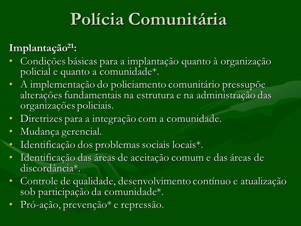 Polícia Comunitária Implantação21: