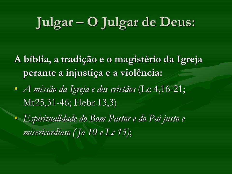 Julgar – O Julgar de Deus: