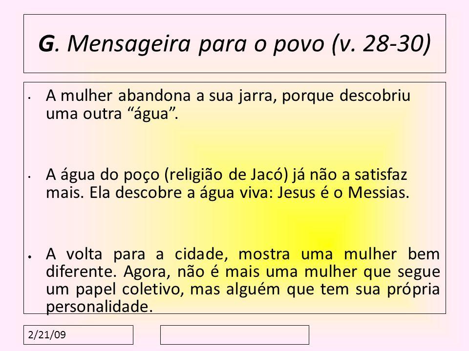 G. Mensageira para o povo (v. 28-30)
