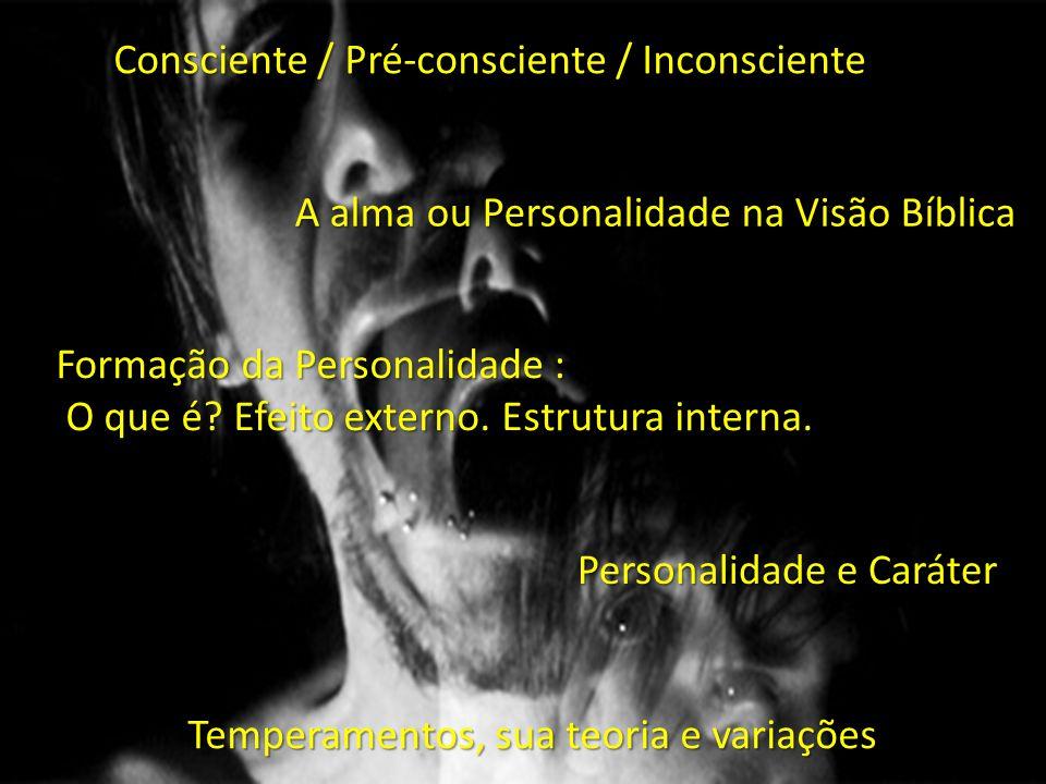 Consciente / Pré-consciente / Inconsciente