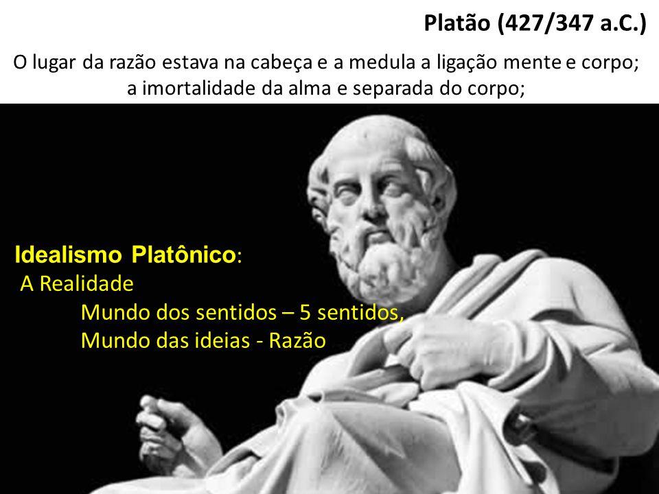 Platão (427/347 a.C.) Idealismo Platônico: A Realidade