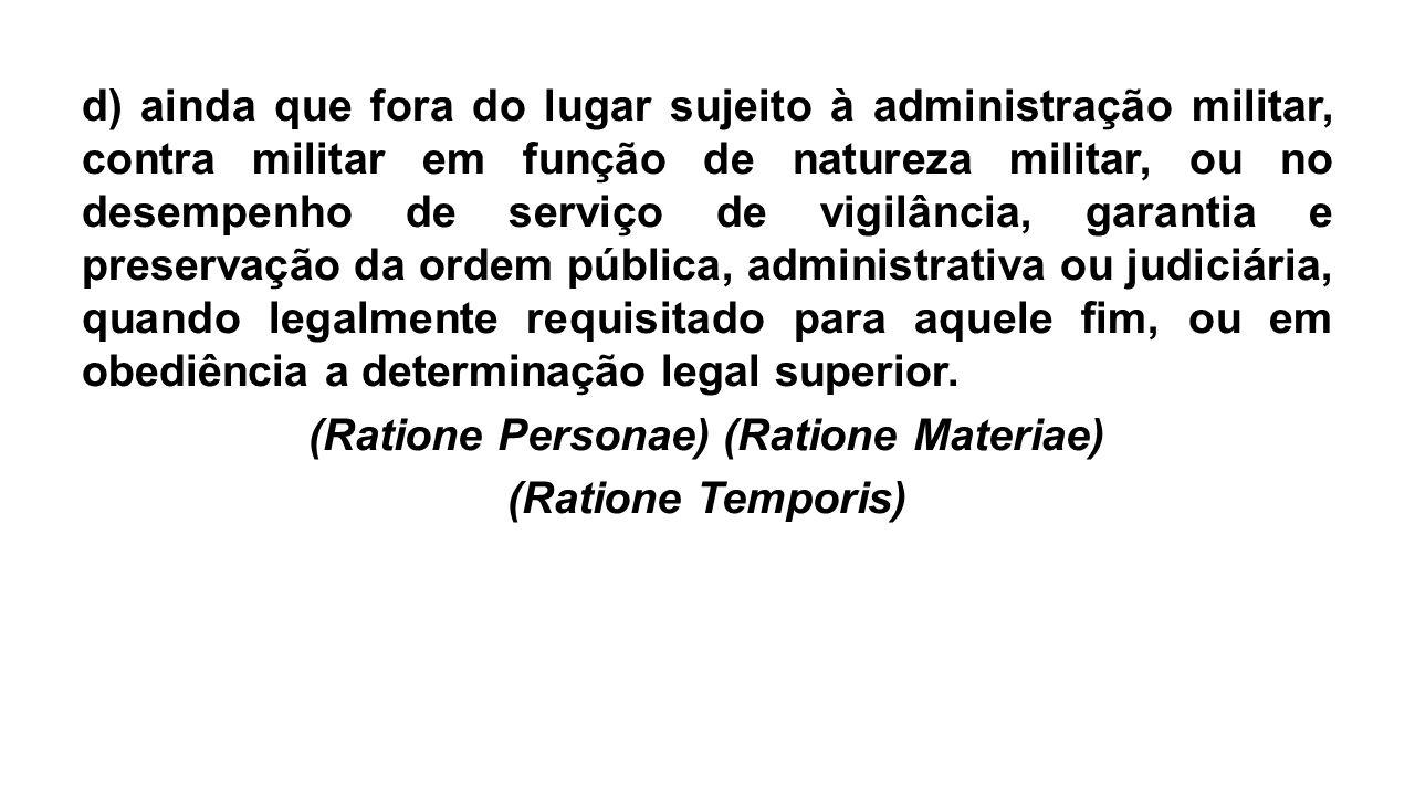 (Ratione Personae) (Ratione Materiae)