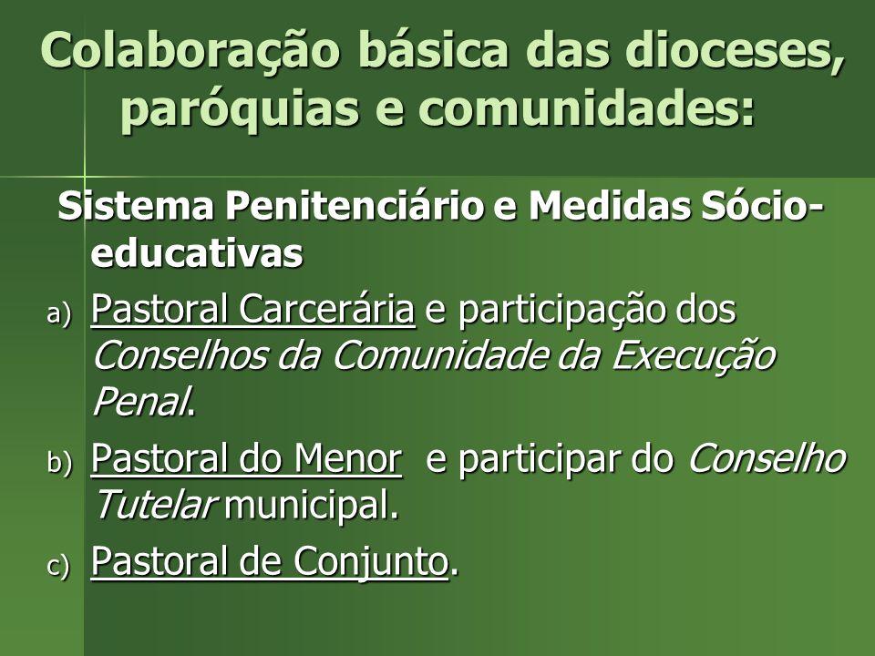 Colaboração básica das dioceses, paróquias e comunidades: