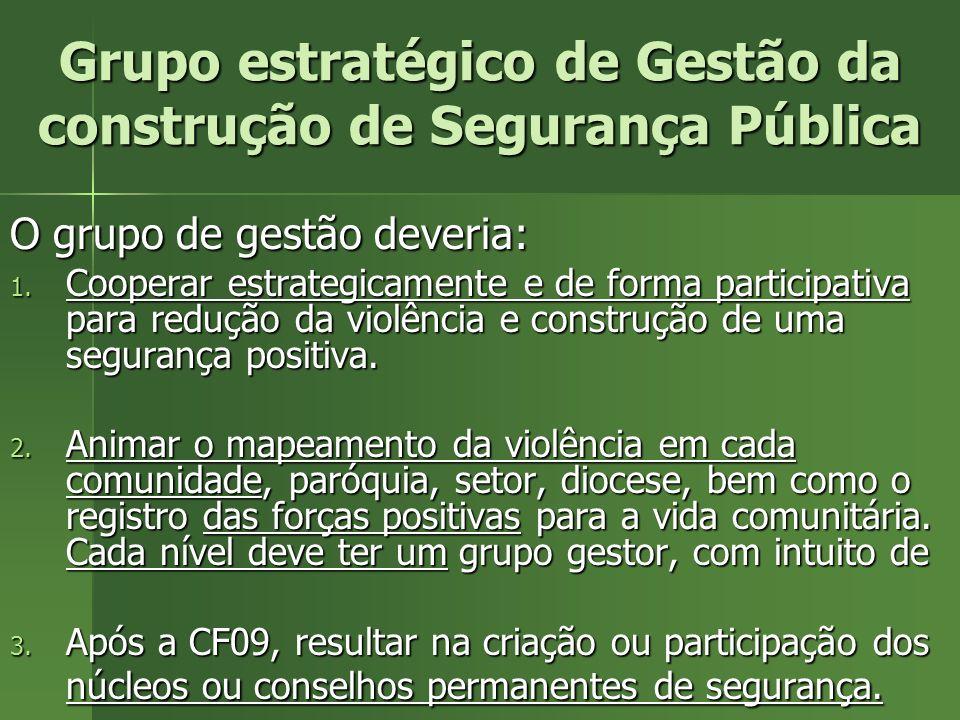 Grupo estratégico de Gestão da construção de Segurança Pública
