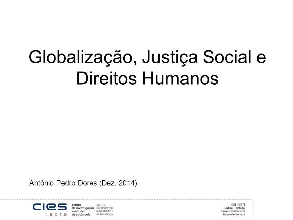 Globalização, Justiça Social e Direitos Humanos