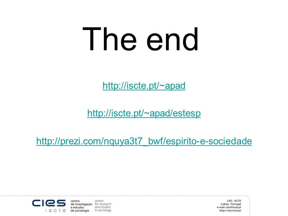 The end http://iscte.pt/~apad http://iscte.pt/~apad/estesp