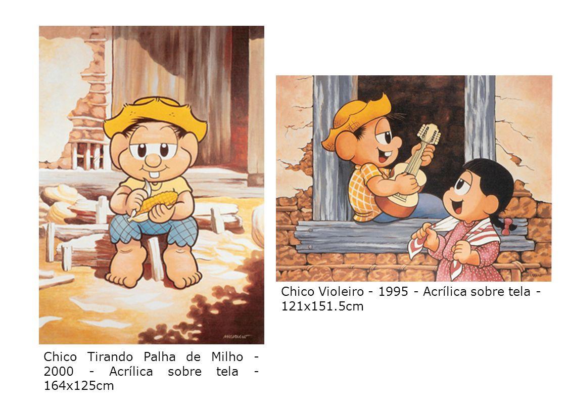 Chico Tirando Palha de Milho - 2000 - Acrílica sobre tela - 164x125cm
