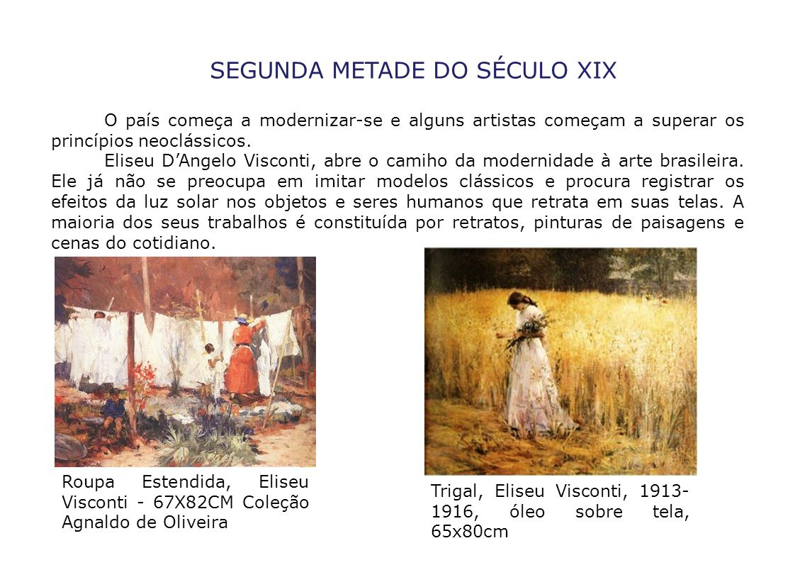 SEGUNDA METADE DO SÉCULO XIX