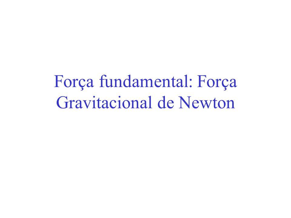 Força fundamental: Força Gravitacional de Newton