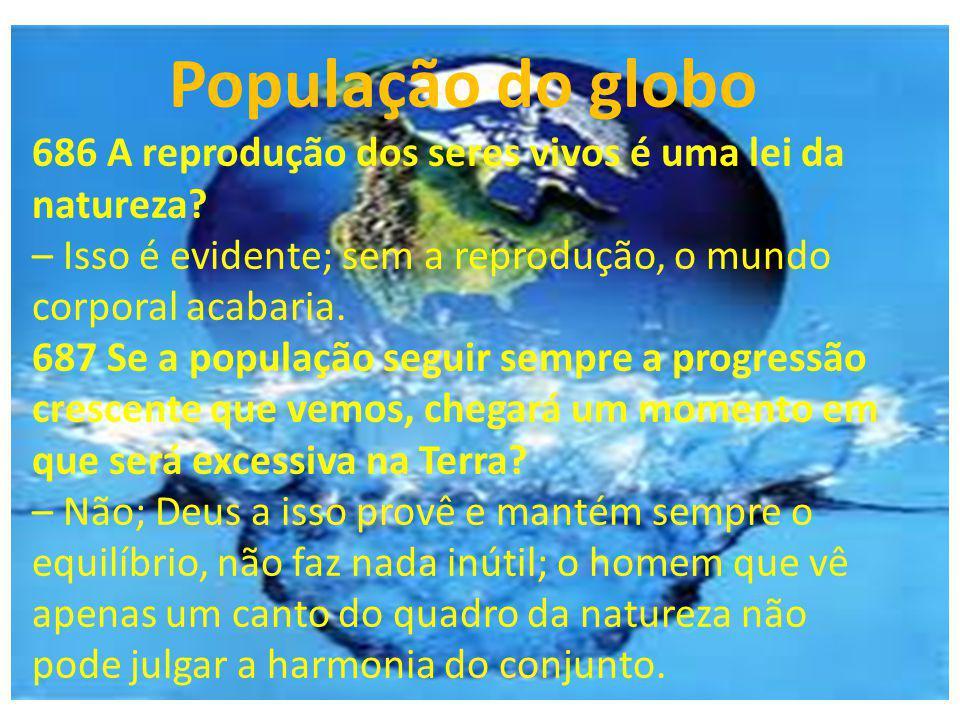 População do globo 686 A reprodução dos seres vivos é uma lei da natureza – Isso é evidente; sem a reprodução, o mundo corporal acabaria.