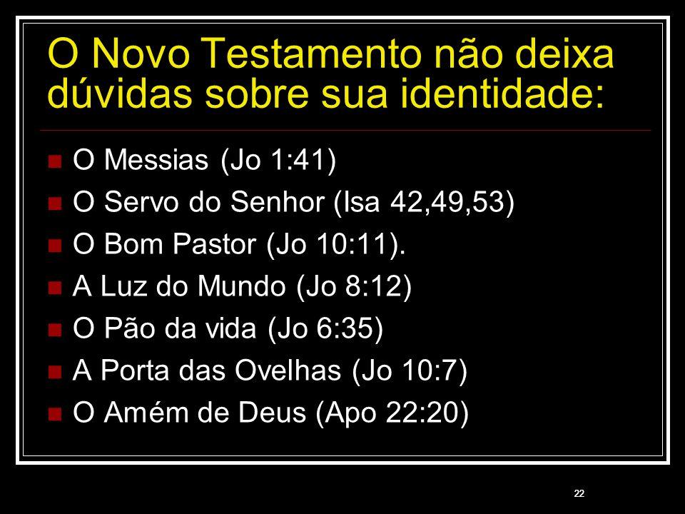 O Novo Testamento não deixa dúvidas sobre sua identidade: