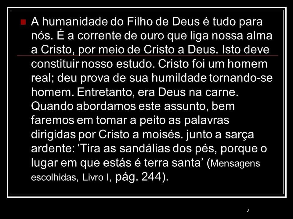 A humanidade do Filho de Deus é tudo para nós