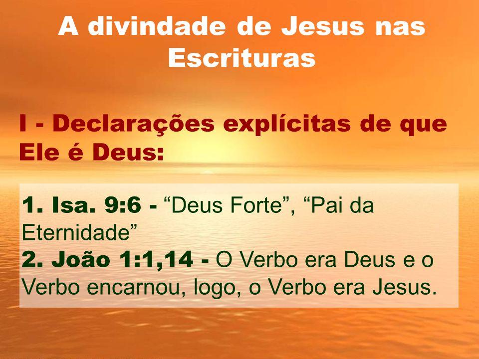 A divindade de Jesus nas Escrituras