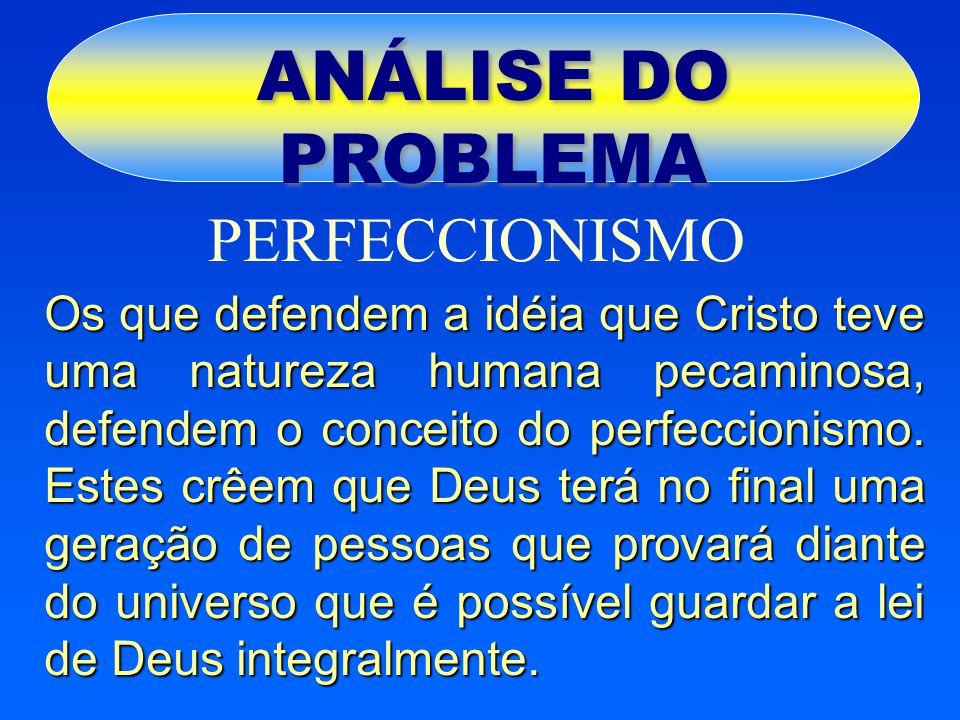 ANÁLISE DO PROBLEMA PERFECCIONISMO