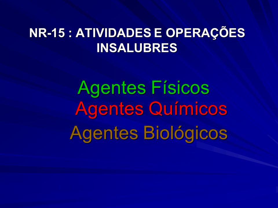 NR-15 : ATIVIDADES E OPERAÇÕES INSALUBRES