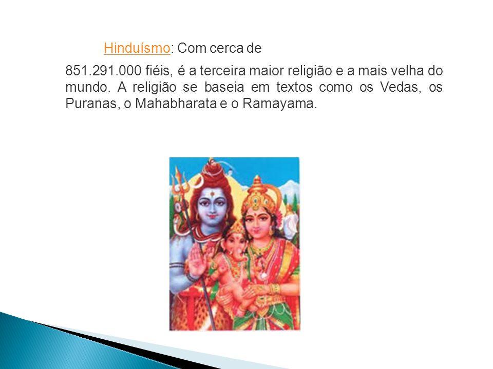 Hinduísmo: Com cerca de