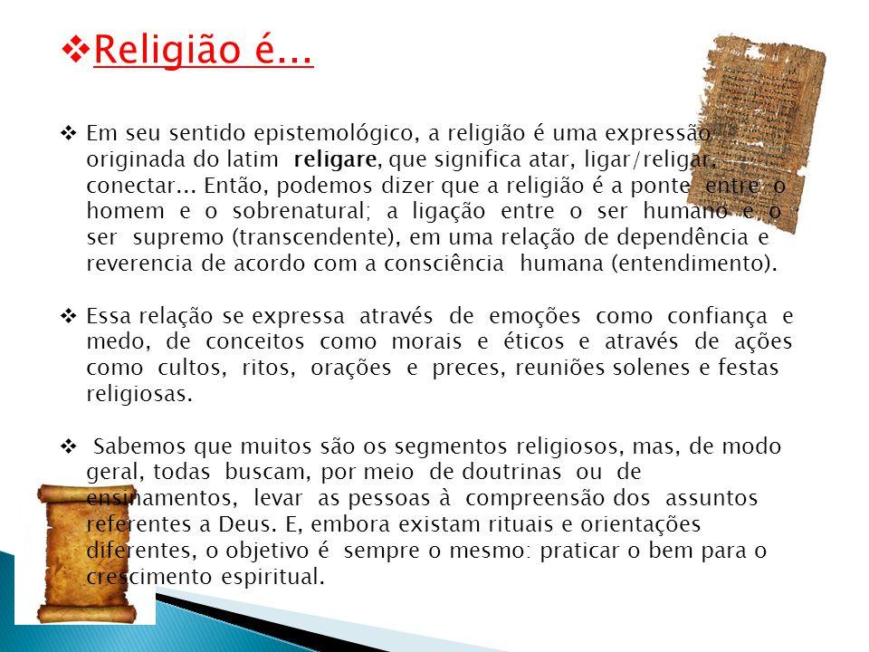 Religião é...