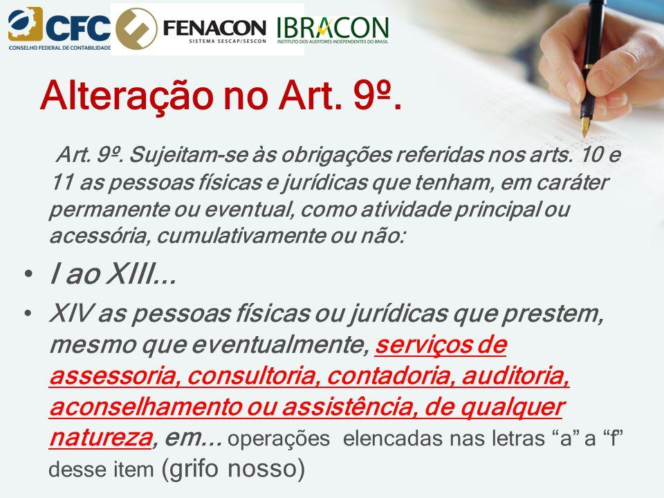 Alteração no Art. 9º.
