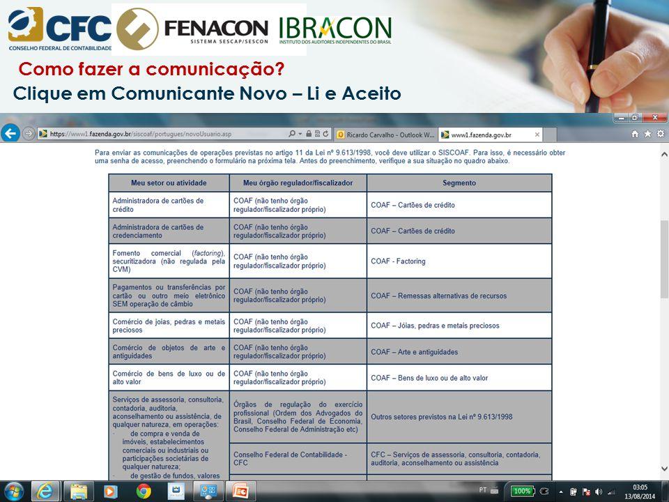 Como fazer a comunicação