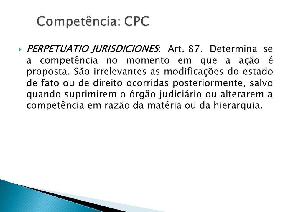 Competência: CPC