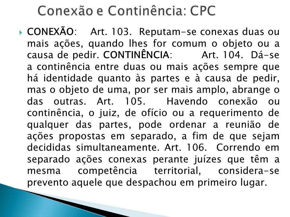 Conexão e Continência: CPC