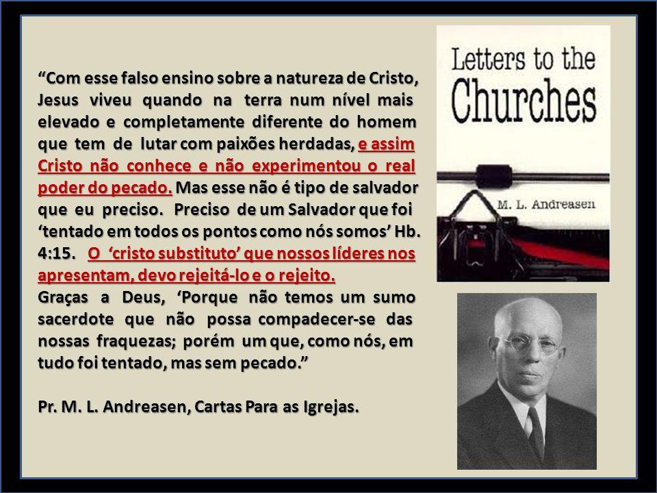 Com esse falso ensino sobre a natureza de Cristo,