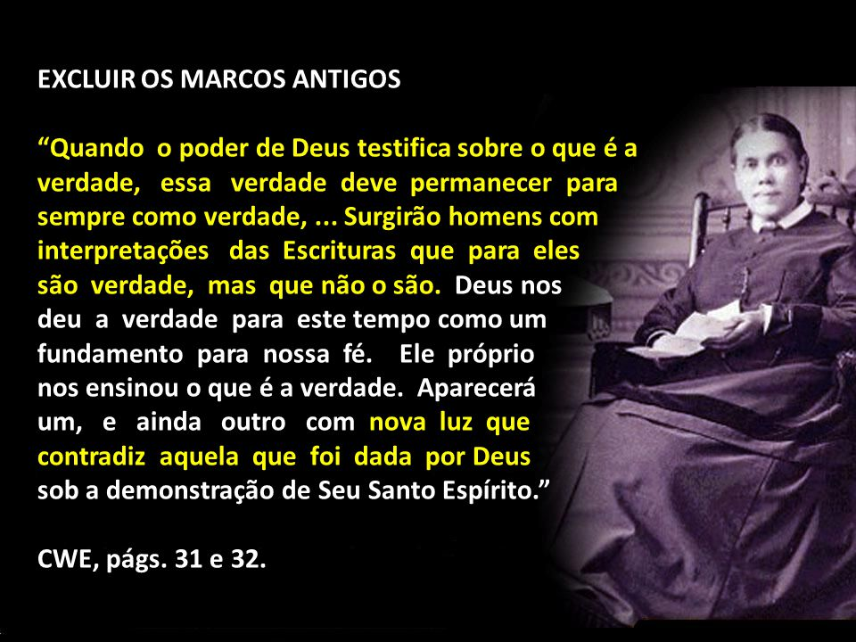 EXCLUIR OS MARCOS ANTIGOS