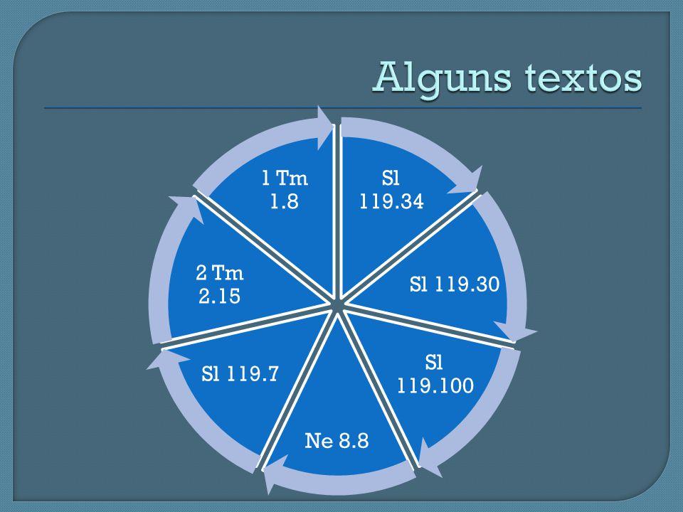 Alguns textos Sl 119.34 Sl 119.30 Sl 119.100 Ne 8.8 Sl 119.7 2 Tm 2.15