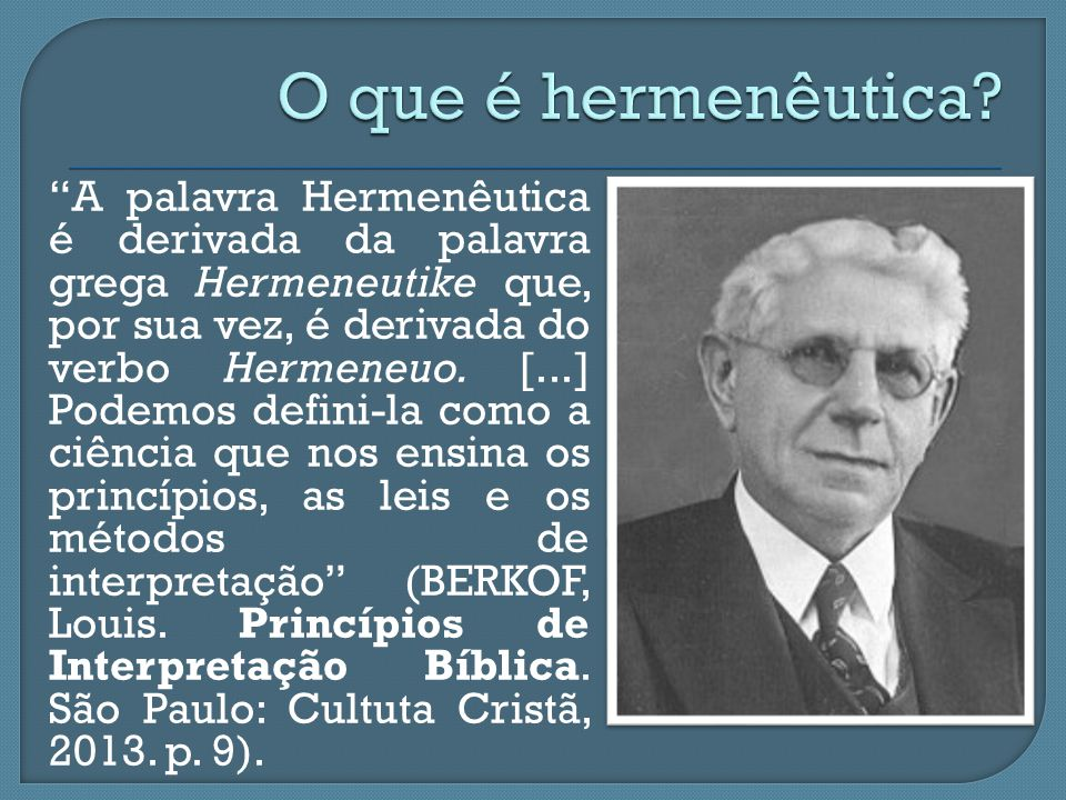 O que é hermenêutica