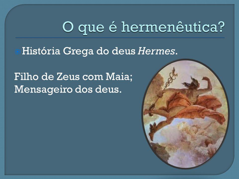 O que é hermenêutica História Grega do deus Hermes.