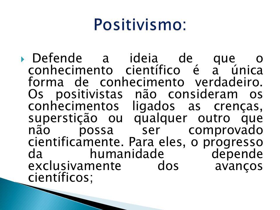 Positivismo: