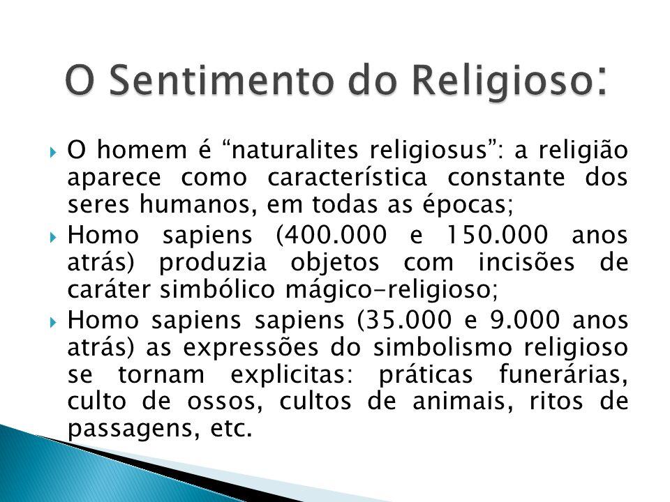O Sentimento do Religioso: