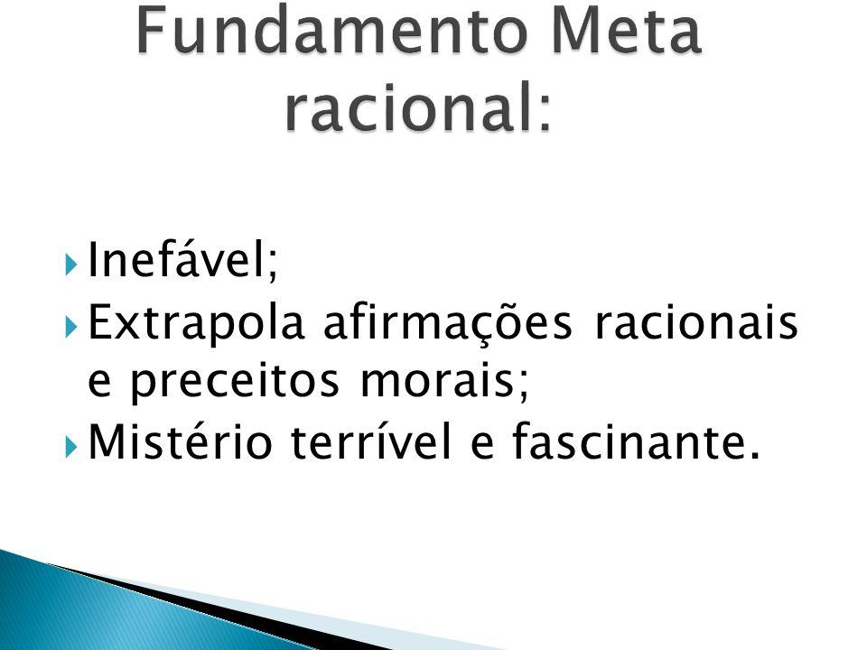 Fundamento Meta racional: