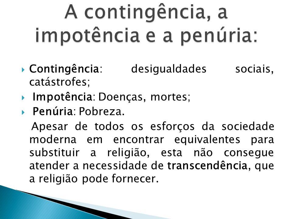 A contingência, a impotência e a penúria: