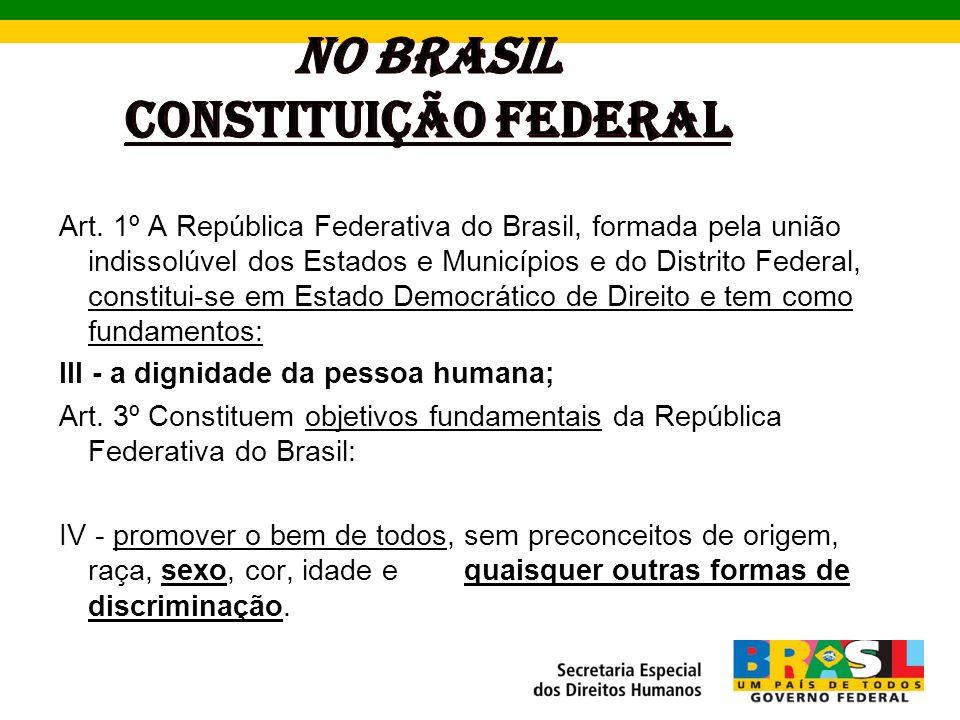 NO BRASIL CONSTITUIÇÃO FEDERAL