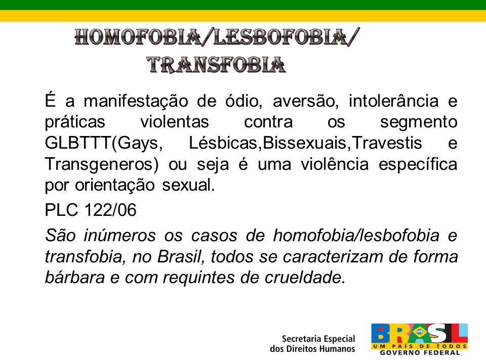 HOMOFOBIA/LESBOFOBIA/ TRANSFOBIA