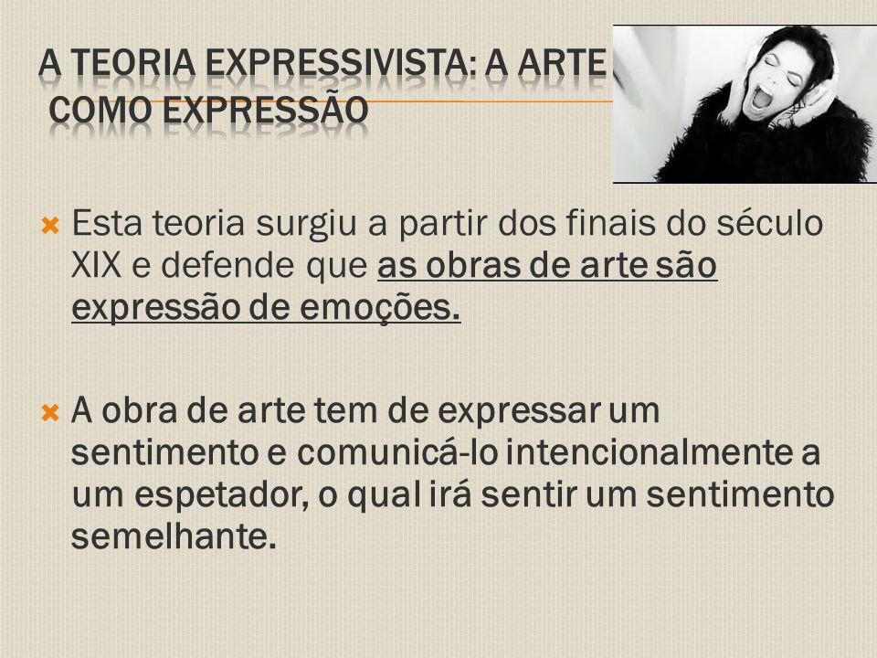 A teoria expressivista: a arte como expressão