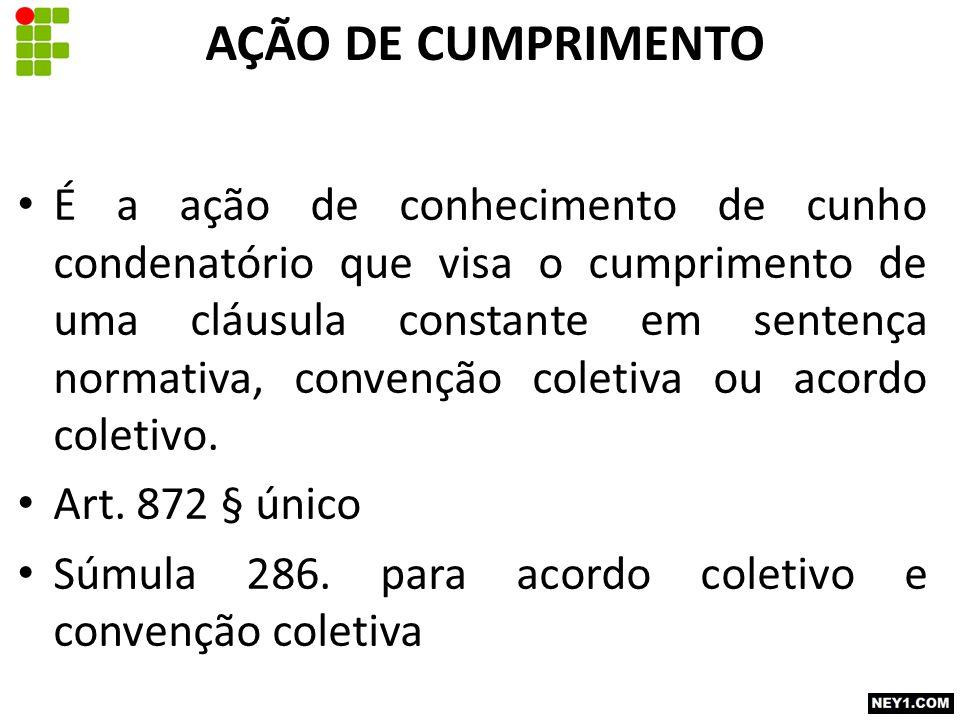 AÇÃO DE CUMPRIMENTO