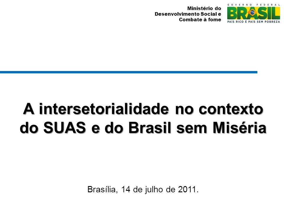 A intersetorialidade no contexto do SUAS e do Brasil sem Miséria