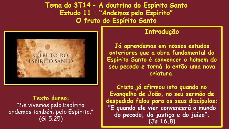 Tema do 3T14 – A doutrina do Espírito Santo