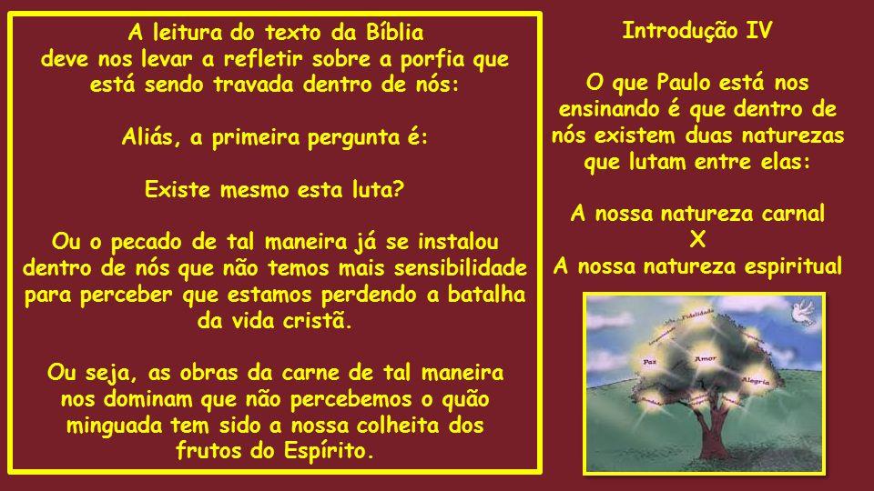 A leitura do texto da Bíblia