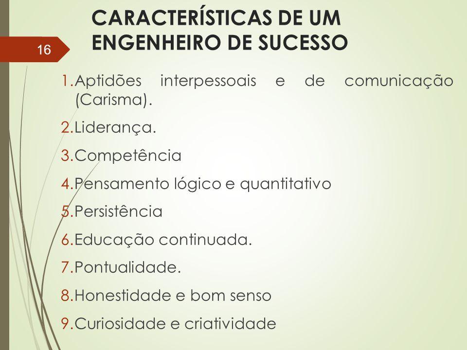 CARACTERÍSTICAS DE UM ENGENHEIRO DE SUCESSO