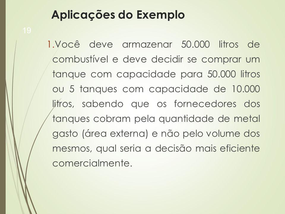 Aplicações do Exemplo