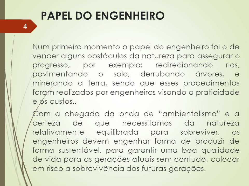 PAPEL DO ENGENHEIRO