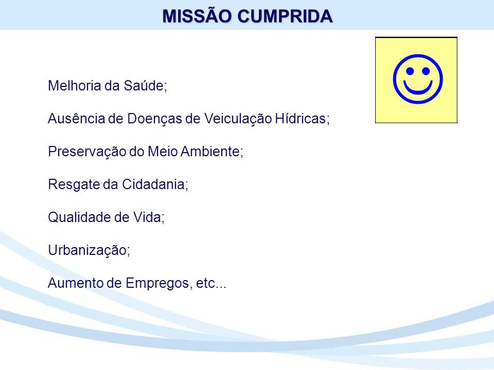 J MISSÃO CUMPRIDA Melhoria da Saúde;