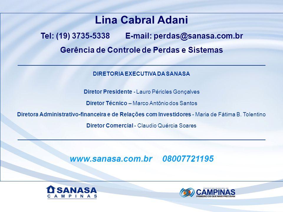 Lina Cabral Adani www.sanasa.com.br 08007721195