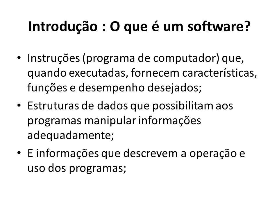 Introdução : O que é um software