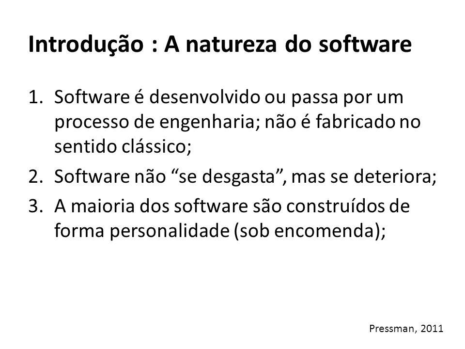 Introdução : A natureza do software