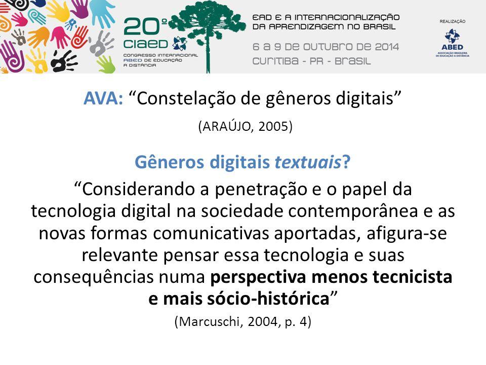 Gêneros digitais textuais